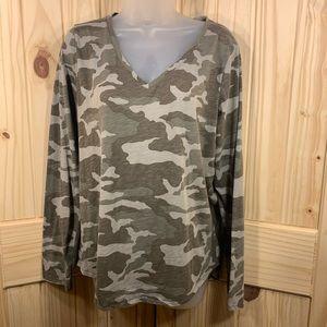 🐴 V-Neck Camo Shirt by Sonoma